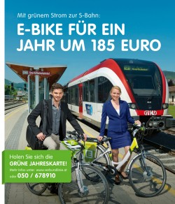 Plakat S Bahn Aktion E Bike